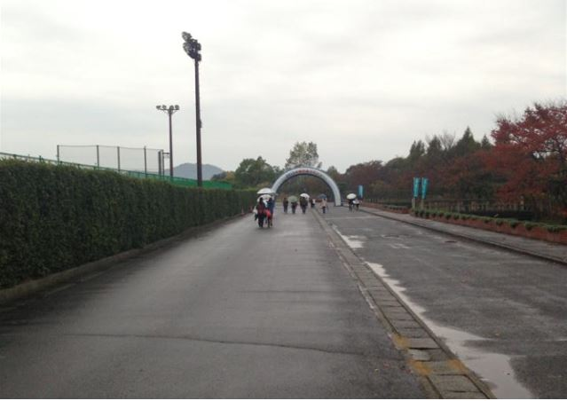 水郷の里マラソン-スタート会場の様子