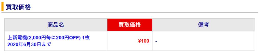 8173-上新電機-優待買取
