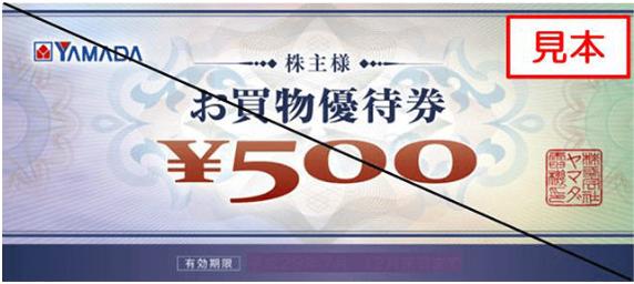 9831-ヤマダ電機-株主優券2