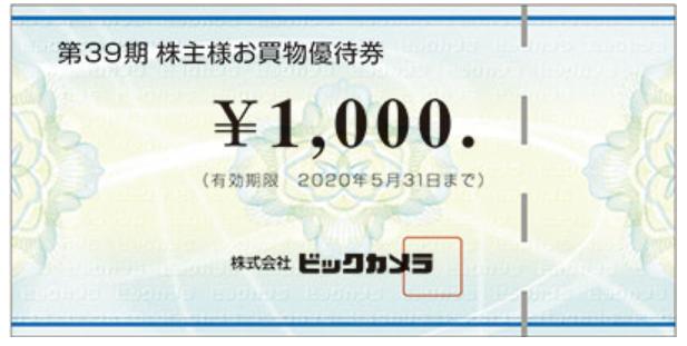 3048-ビックカメラ-株主優待券