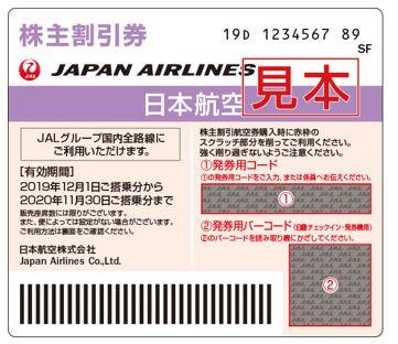 9201-日本航空-株主優待券