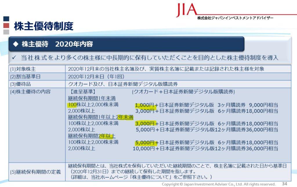 株主優待.QUOカード5000円