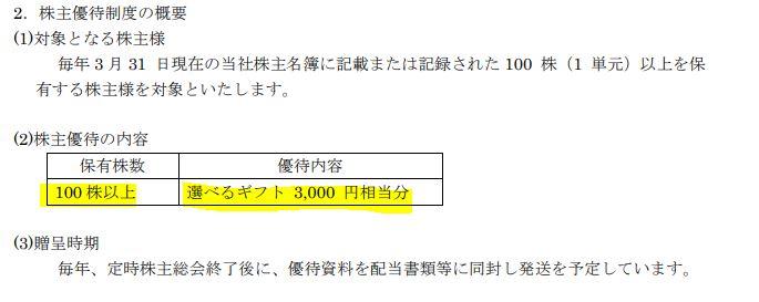 株主優待-愛知電機