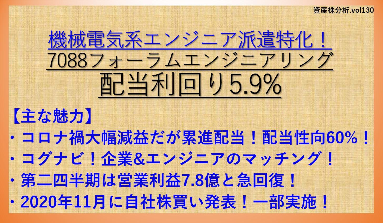 フォーラムエンジニアリング-7088-資産株