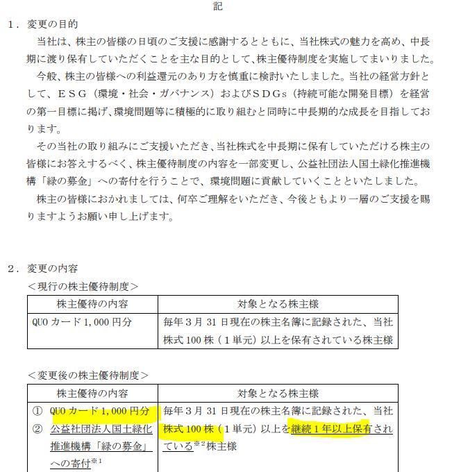 株主優待-高周波熱錬