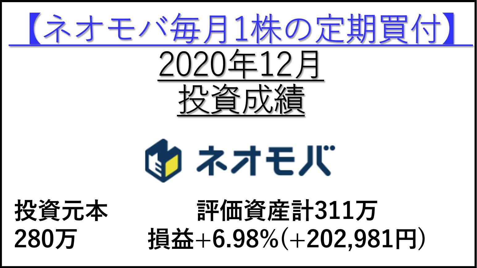 2020年12月投資成績