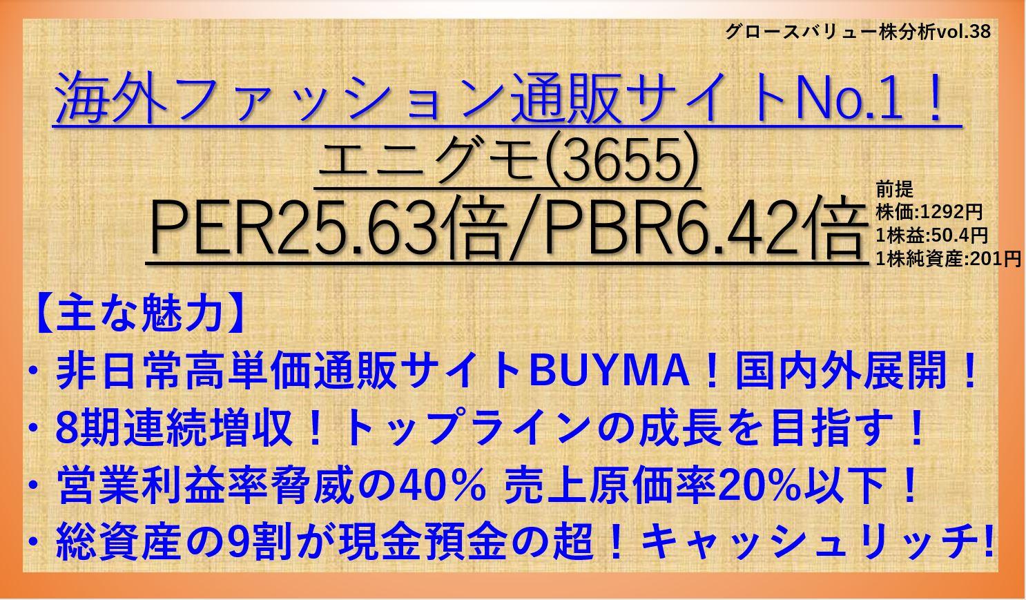 3665-エニグモ-バリュー株-グロース株