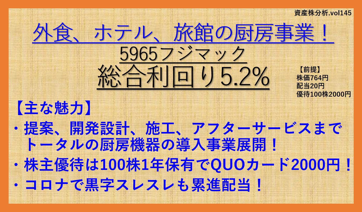 5965-フジマック-資産株-銘柄分析