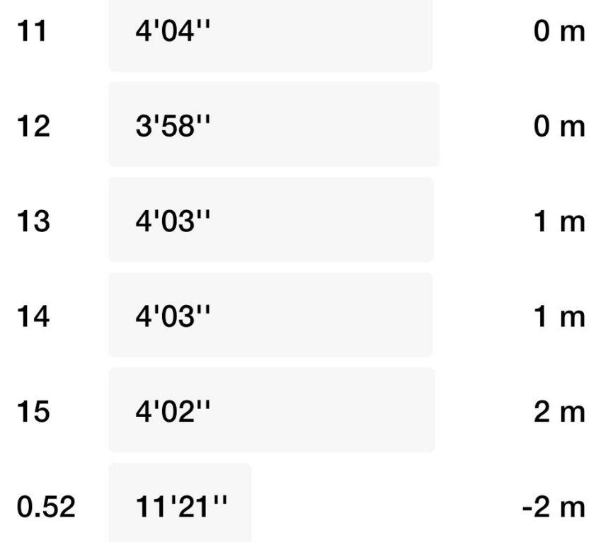 15km走ベスト更新-平均3分54秒-3