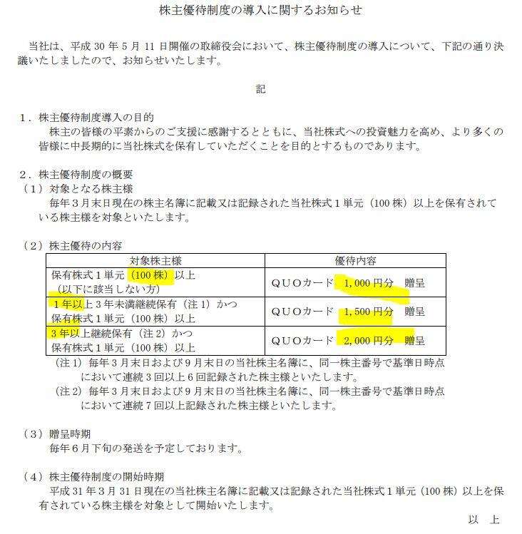 株主優待.東邦アセチレン4093