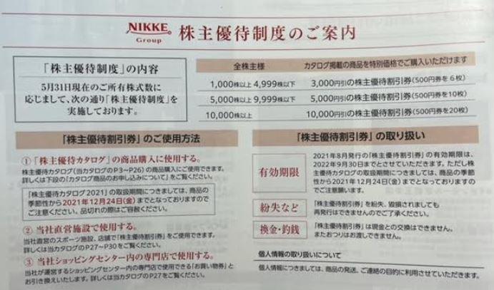 株主優待到着1.日本毛織(ニッケ)(3201).株主優待カタログ