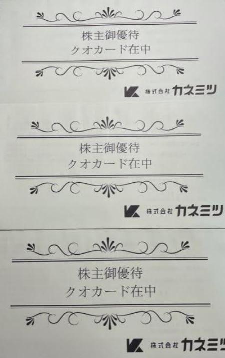 株主優待到着2.カネミツ(7208)