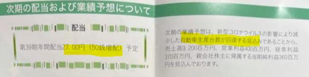 第38期株主通信4.カネミツ(7208)